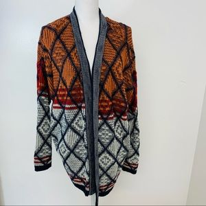 Forever 21 Plus Woman Cardigan 3X  Open Front Boho